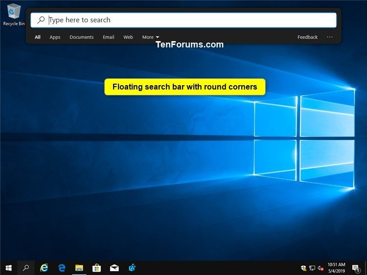 Enable or Disable Floating Immersive Search Bar in Windows 10-floating_search_bar_with_round_corners.jpg
