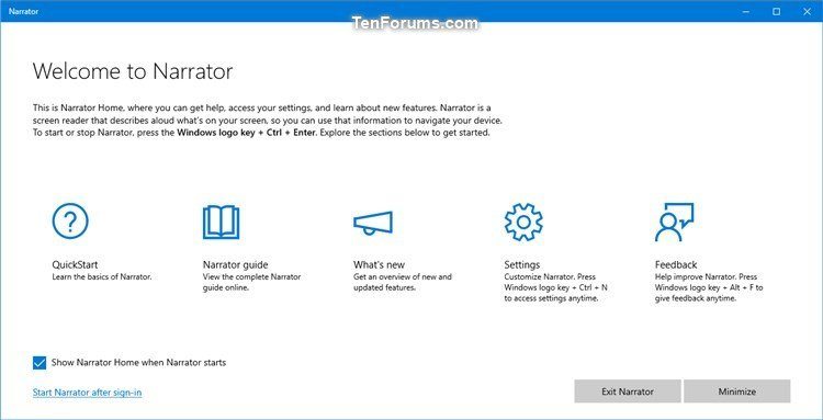 Turn On or Off Show Narrator Home at Narrator Startup in Windows 10-narrator_home.jpg