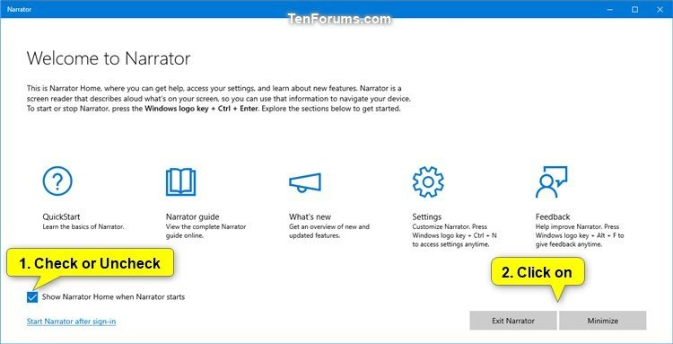 Turn On or Off Show Narrator Home at Narrator Startup in Windows 10-narrator_home_check_box.jpg