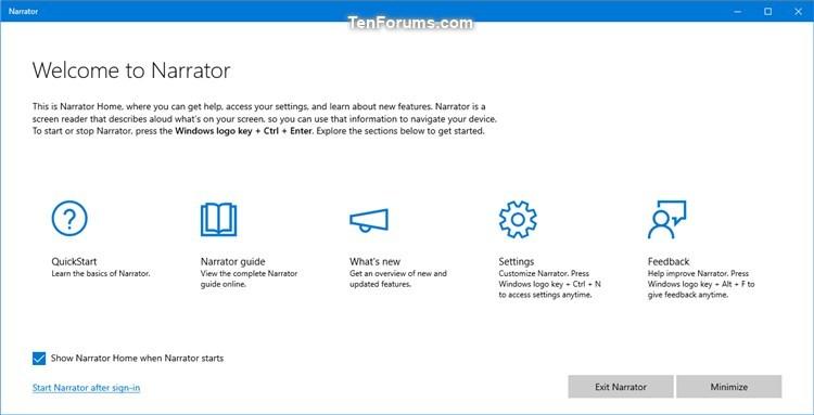 Change Minimize Narrator Home to Taskbar or System Tray in Windows 10-narrator_home.jpg
