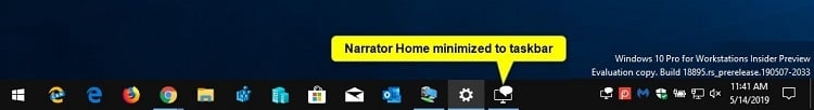 Change Minimize Narrator Home to Taskbar or System Tray in Windows 10-narrator_home_taskbar.jpg