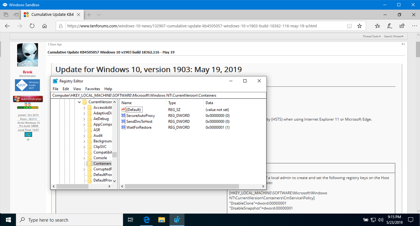 Enable or Disable Windows Sandbox in Windows 10 - Page 4