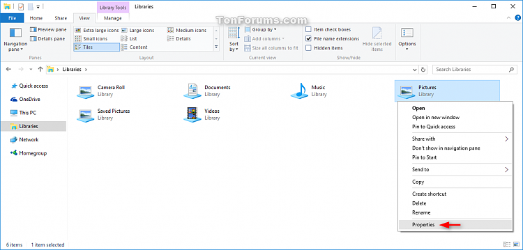 Change Folder Template in Windows 10-library_properties.png