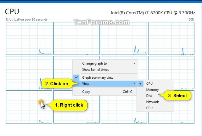 Toggle Graph Summary View On or Off in Windows 10 Task