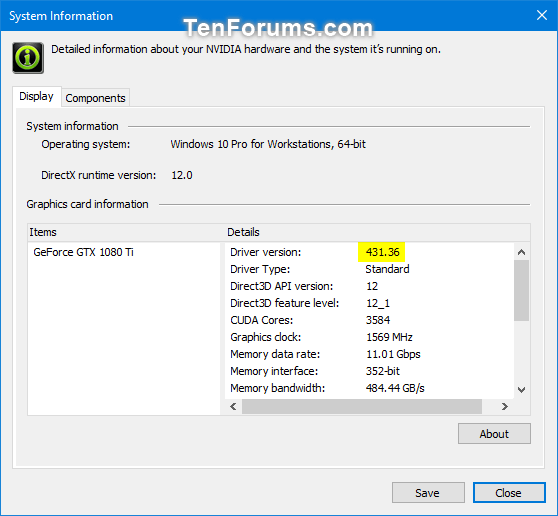 Determine NVIDIA Graphics Display Driver Version Installed in Windows-nvidia_control_panel-2.png