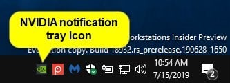 Add or Remove NVIDIA Control Panel Notification Tray Icon in Windows