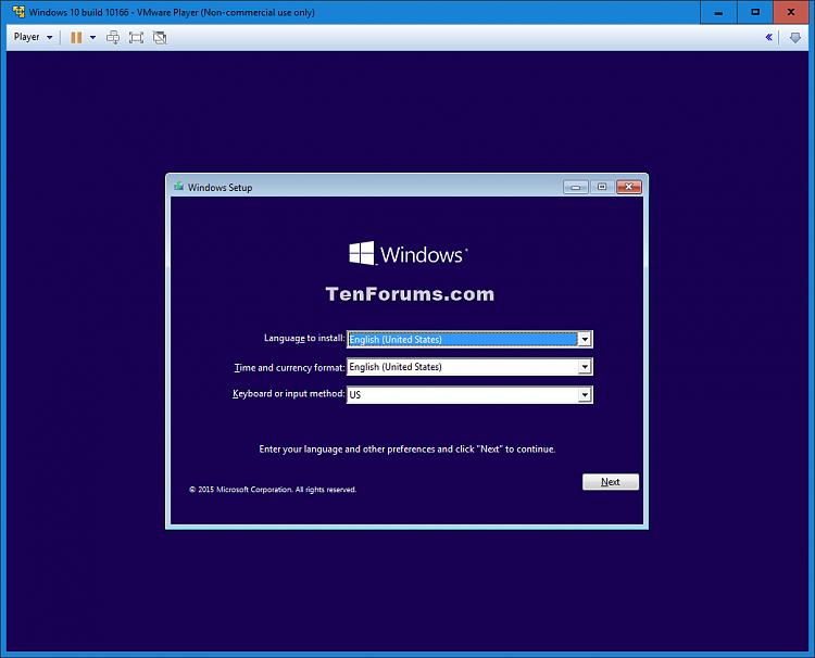 Install Windows 10 as Virtual Machine in VMware Player-windows_10_vmware_player-13.png