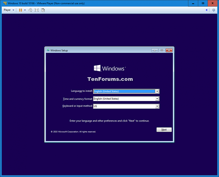Install Windows 10 as Virtual Machine in VMware Player-windows_10_vmware_player-13.png