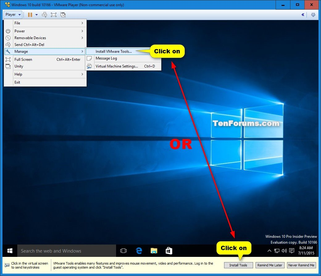 Install Windows 10 as Virtual Machine in VMware Player