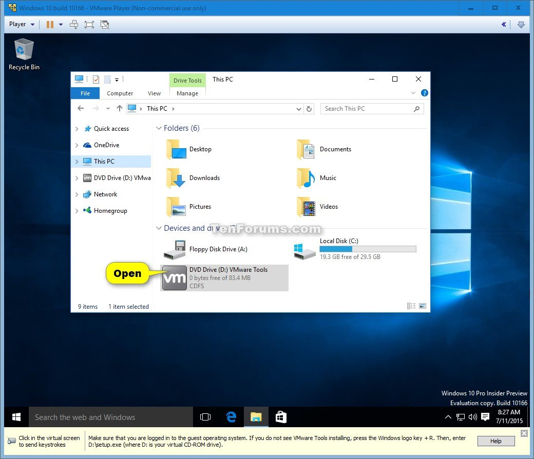 Show me how to play a dvd in windows 10 - Click Image For Larger Version Name Windows_10_vmware_player 15 Jpg Views 665