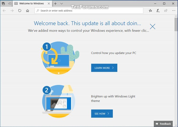 Update to Latest Version of Windows 10 using Update
