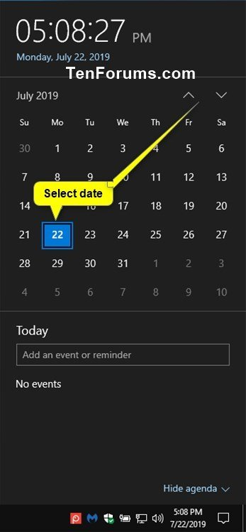 Create New Event in Calendar app in Windows 10-create_calendar_event_from_taskbar-1.jpg