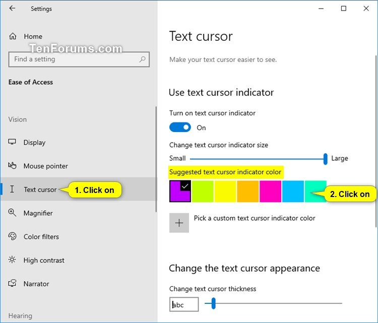 Change Text Cursor Indicator Color in Windows 10-suggested_text_cursor_indicator_color.jpg