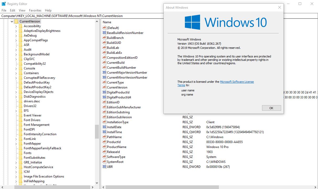 Change Registered Owner and Organization in Windows 10 | Tutorials