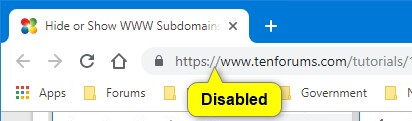 Hide or Show WWW Subdomains of URLs in Address Bar of Google Chrome-disabled.jpg