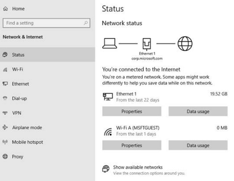 View Network Data Usage Details in Windows 10-network_status_18956.jpg