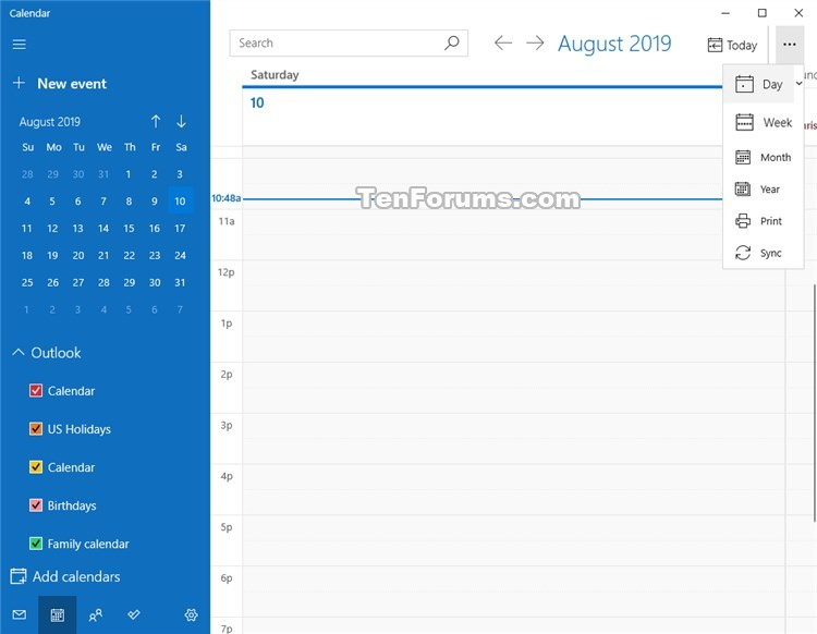 Change View in Calendar for Windows 10-calendar_day_view-2.jpg