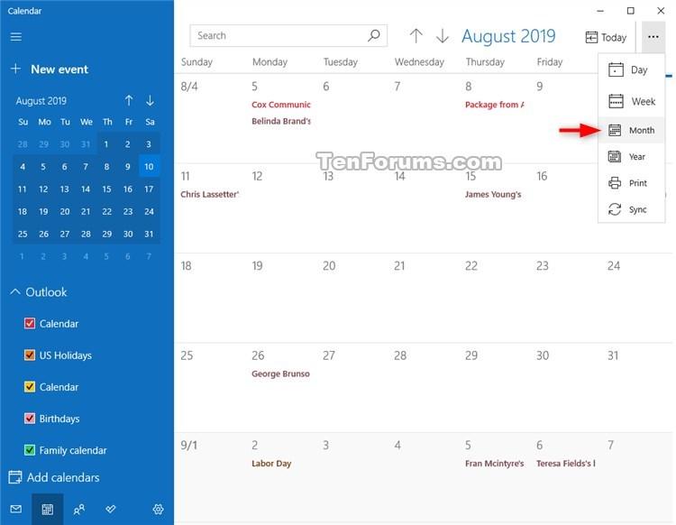 Change View in Calendar for Windows 10-calendar_month_view-2.jpg