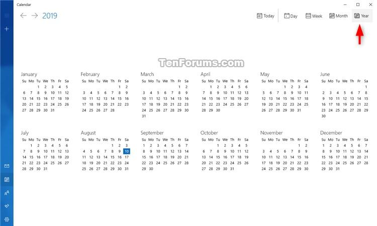 Change View in Calendar for Windows 10-calendar_year_view-1.jpg