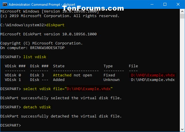 Mount or Unmount VHD or VHDX File in Windows 10-unmount_vhd_command.png
