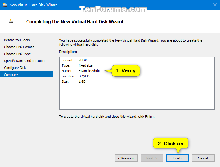 Create and Set Up New VHD or VHDX File in Windows 10 | Tutorials