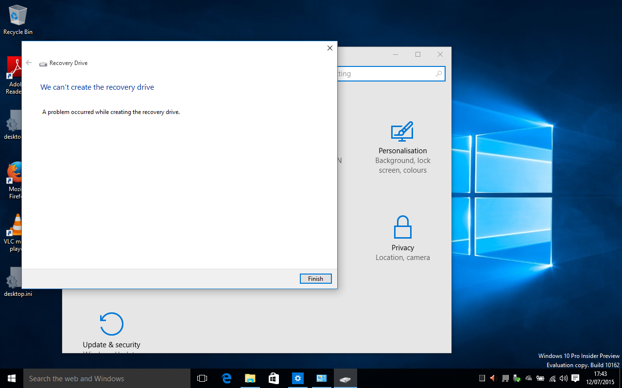 how to clean recovery drive windows 10