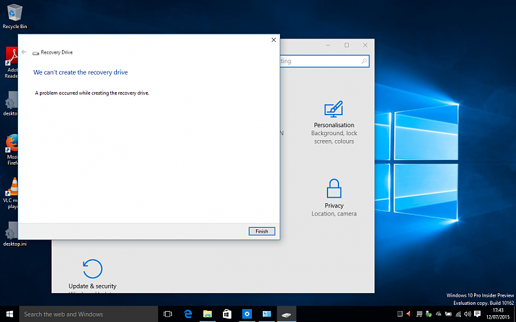 Create Recovery Drive in Windows 10-recoverydrivenotcreated.png