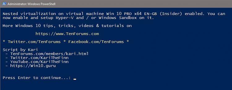 Hyper-V Nested Virtualization: Run virtual machines on virtual machine-nested-enabled.jpg