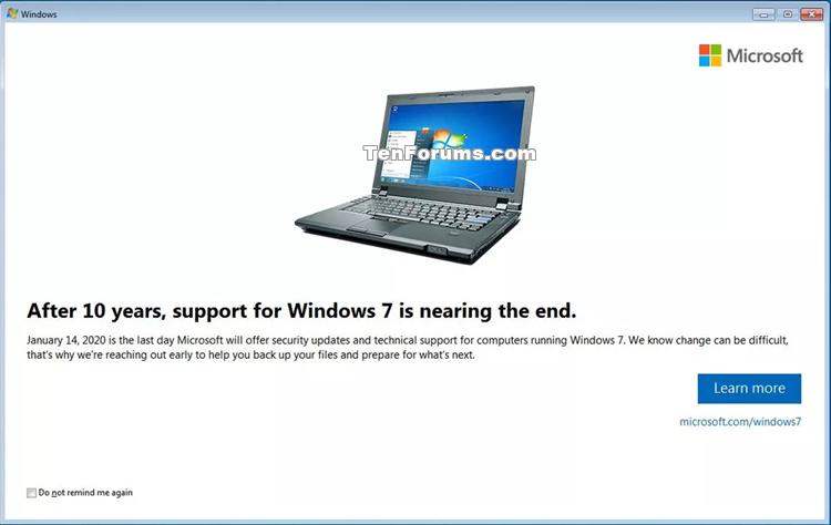 Frissítés Windows 10 rendszerre a Windows 7 rendszerről a Free-windows_7_end_of_support_notification.png webhelyre