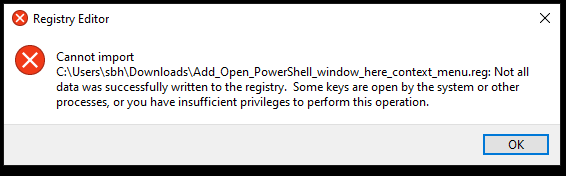 Add Open PowerShell window here as administrator in Windows 10-ps.png