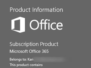 Custom install or change Microsoft Office with Office Deployment Tool-o365-account-info.jpg
