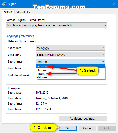 Change Taskbar Clock to 12 hour or 24 hour Format in Windows 10-12-hour_clock_cp.png