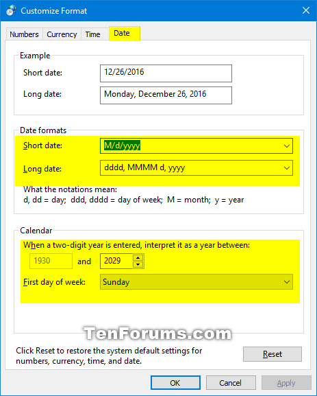 Change Date and Time Formats in Windows 10-date_and_time_formats_control_panel-5.png