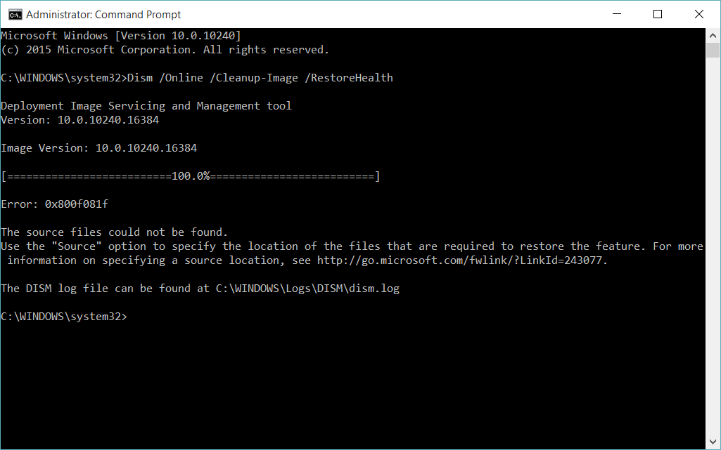 Use DISM to Repair Windows 10 Image   Tutorials