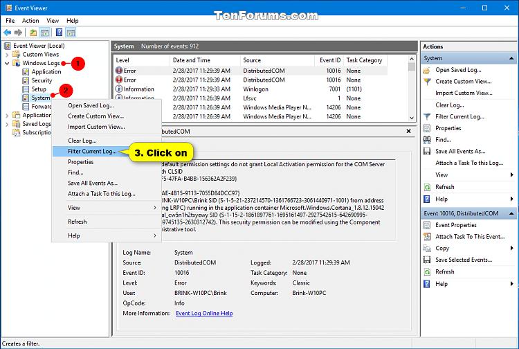 Read Shutdown Logs in Event Viewer in Windows | Tutorials