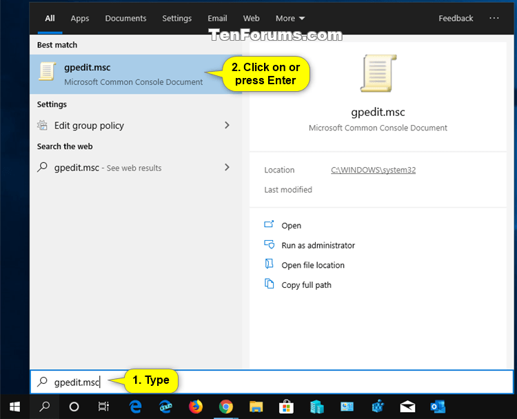 Open Local Group Policy Editor in Windows 10 | Tutorials