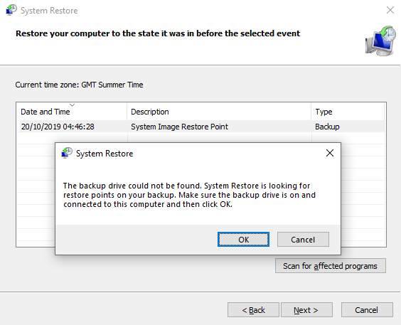 Delete System Image Restore Point from System Restore in Windows 10-tutorial-system-image-restore-point-fail.png