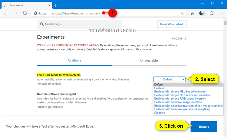 Enable or Disable Dark Mode for Websites in Microsoft Edge Chromium-microsoft_edge_force_dark_mode_for_web_contents.png
