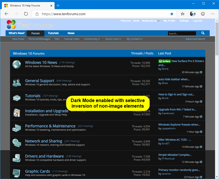 Enable or Disable Dark Mode for Websites in Microsoft Edge Chromium-microsoft_edge_dark_mode_enabled_non-image.png