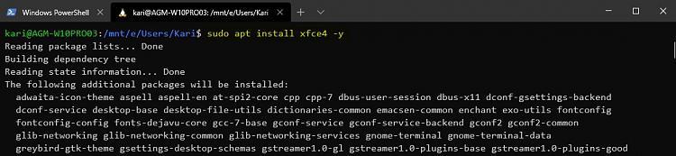 Windows Subsystem for Linux - Add desktop experience to Ubuntu-install-xfce.jpg