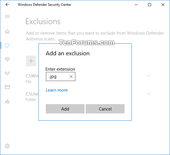 Add or Remove Windows Defender Antivirus Exclusions in Windows 10-windows_defender_file_type_exclusion.png