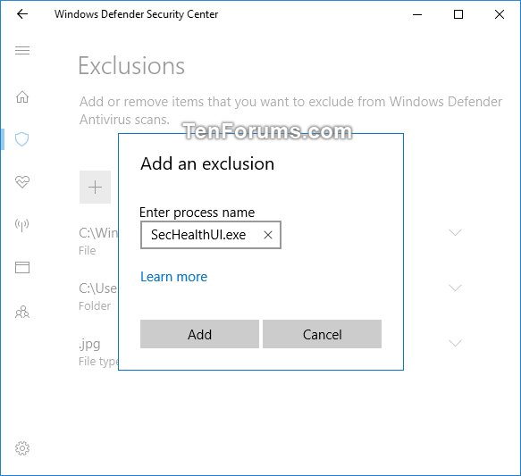 Add or Remove Windows Defender Antivirus Exclusions in Windows 10-windows_defender_process_exclusion.png