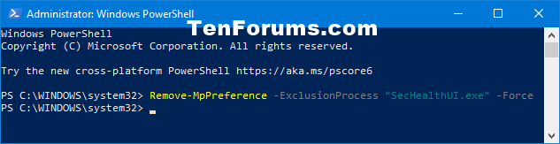 Add or Remove Windows Defender Antivirus Exclusions in Windows 10-remove_windows_defender_process_exclusion_powershell.png