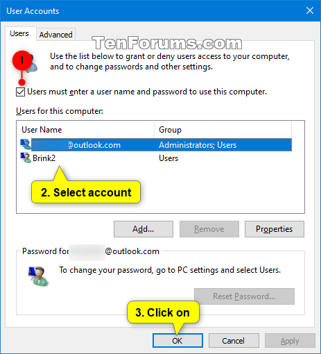 Sign in User Account Automatically at Windows 10 Startup-netplwiz.png