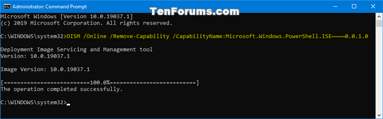 How to Install or Uninstall Windows PowerShell ISE in Windows 10-uninstall_poweshell_ise_command.png