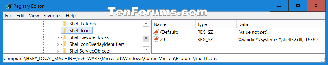 Shortcut Arrow Icon - Change, Remove, or Restore in Windows 10