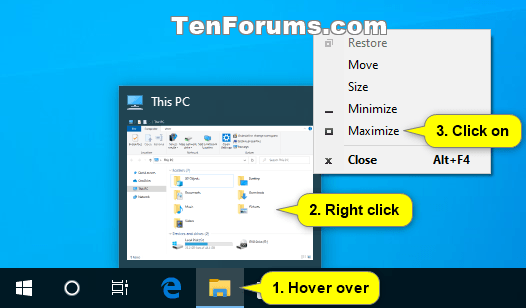 How to Maximize and Restore App Window in Windows 10-taskbar_thumbnail_maximize.png