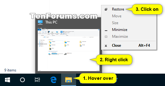 How to Maximize and Restore App Window in Windows 10-taskbar_thumbnail_restore.png