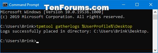 Verify Trusted Platform Module (TPM) Chip on Windows PC-tpmtool_gatherlogs-1.png