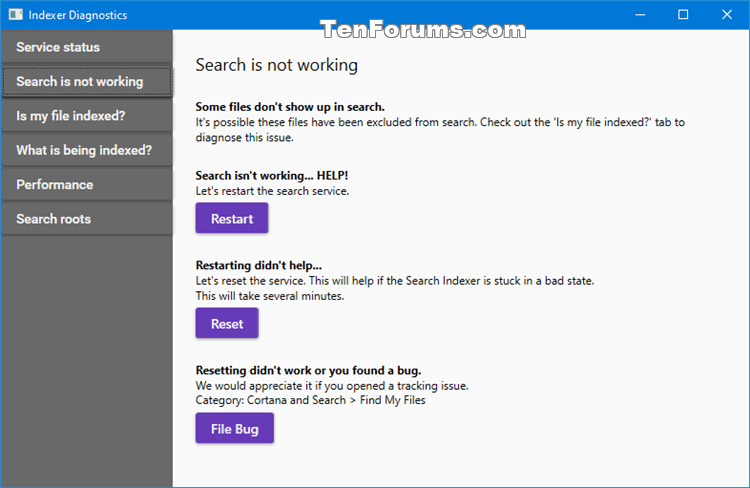 Use Indexer Diagnostics App for Windows Search Issues in Windows 10-indexer_diagnostics-search_is_not_working.png